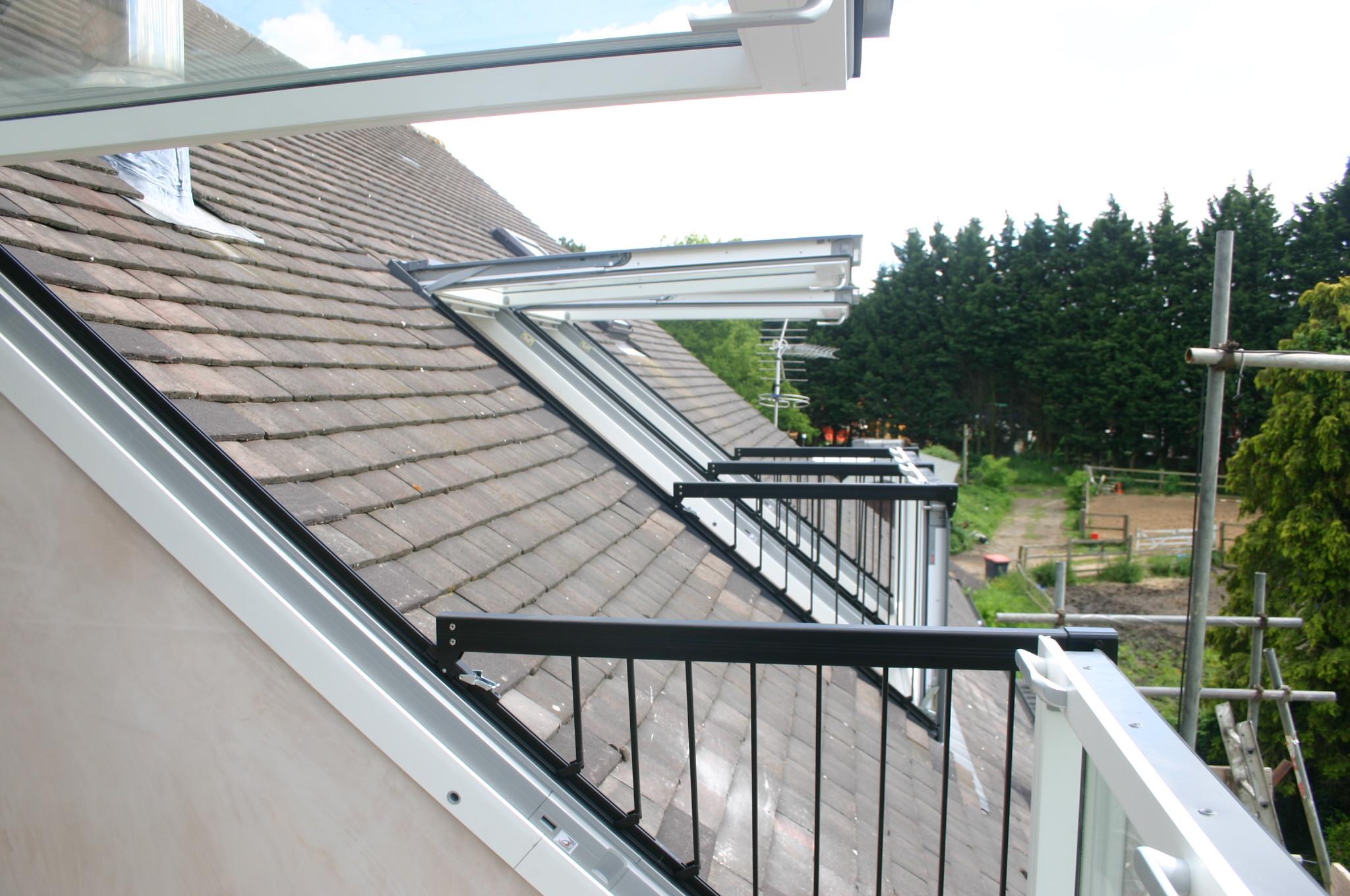 Velux cabrio balcony window for Balcony on roof